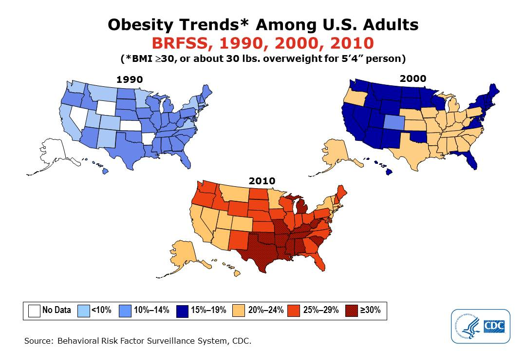 obesity in the united states prevalence Obesity prevalence in the united states prevalence of obesity in adolescents (%) 30 10 20 0 measured (nhanes) self report (yrbs) measured (nhanes) self report.